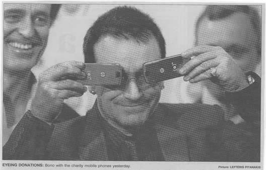 Bono and phones