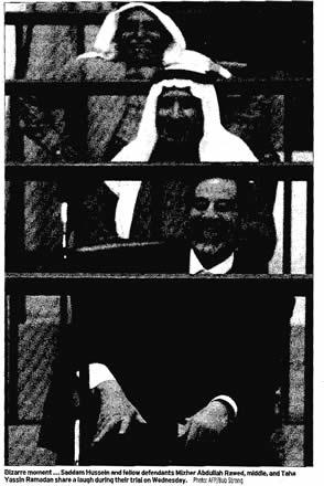 Saddam Laughs