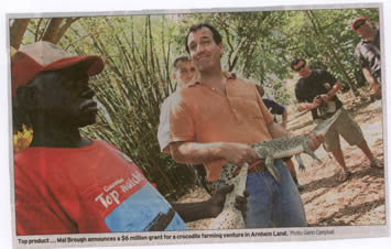 Mal Brough and a croc