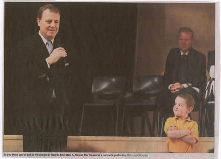 Peter Costello and a young boy