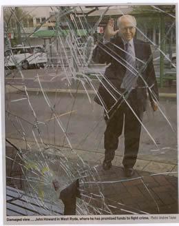 John Howard and shattered glass